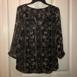 Maurice's Sheer Floral Dress Top